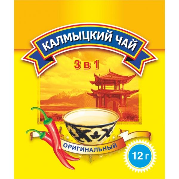 Калмыцкий чай с перцем «Оригинальный»360г. 3в1, 30 пакетиков по 12г.