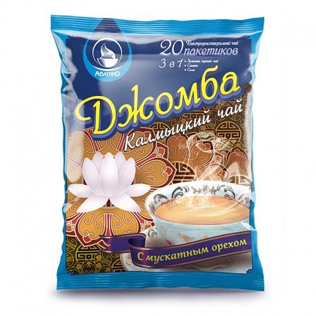 Калмыцкий чай 3 в 1 Джомба с мускатом 20 пакетиков м/у