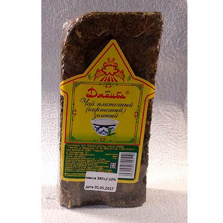 Джомба - Чай плиточный (кирпичный) зеленый, 380+/-10% гр.